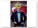 Jason sporting a Tuxedo wearing the Prom King crown from DINA'S PARTY on HDTV