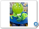 6 foot Octopus for under the sea balloon show another view