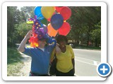 Me as THE BALLOON GUY in CENTRAL PARK for Premium Rush 9-2-10